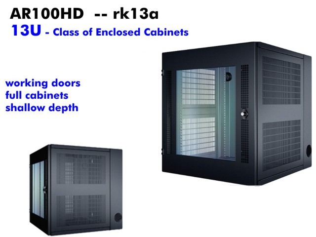 Apc Telco Cabinet 13u Enclosed Ar100